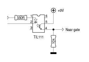 inverter with Til111 Niet Inverterend on 69 Marshall Schemas moreover 74HC595 Serial Shift Register also Solar ph to furthermore Using Mosfets With Ttl Levels further Propagation 20time.